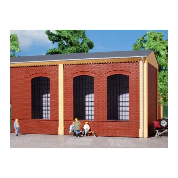 Auhagen HO 80503 Vægge 2325A rød, industriel vindue E