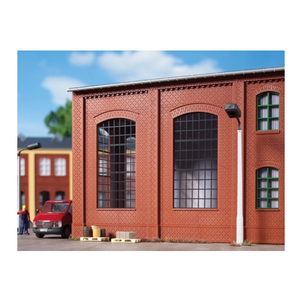 Auhagen HO 80509 Vægge 2342N rød, industriel vindue E