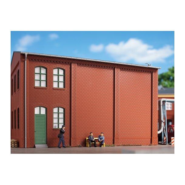 Auhagen HO 80511 Vægge 2342M rød 8 vægge uden tand Frieze. 46 x 86 mm.