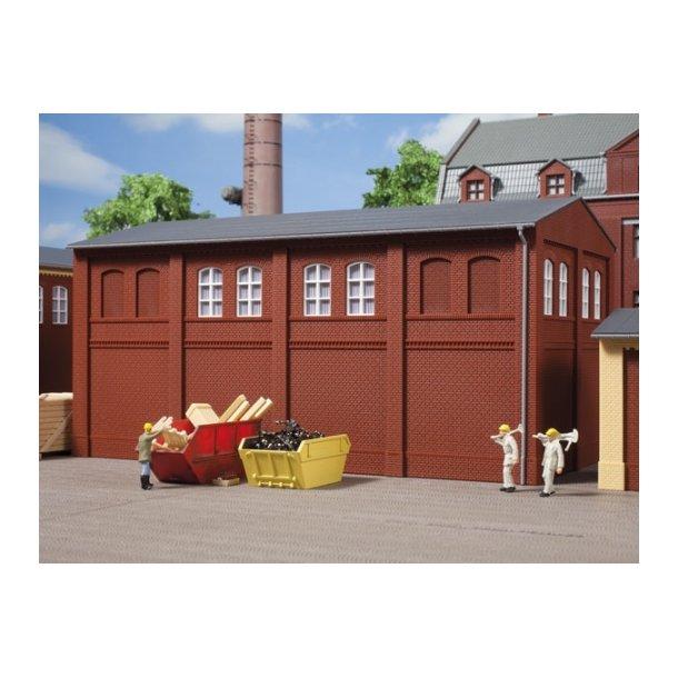 Auhagen HO 80522 Vægge 2410C rød 8 vægge med vinduesåbninger B og tand Frieze.