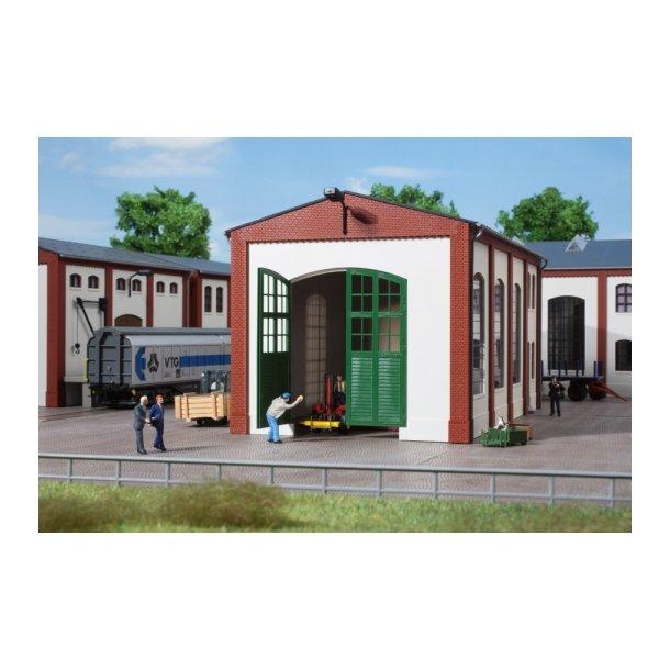 Auhagen HO 80705 Vægge 2326C grøne porte og hvide væge