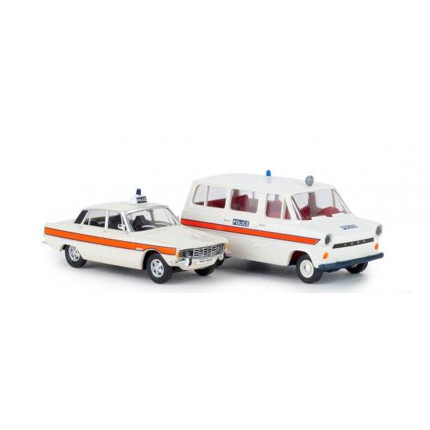 Brekina HO 90474 Ford Transit og Rover police england