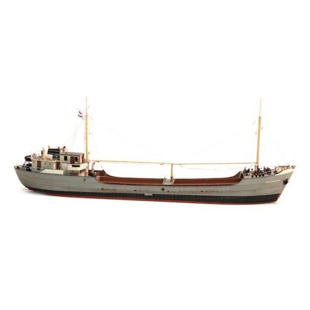 Artitec HO 50.130 fragtskib Noordborg umalet Mål L x b x H:550 x 90 x 195 mm
