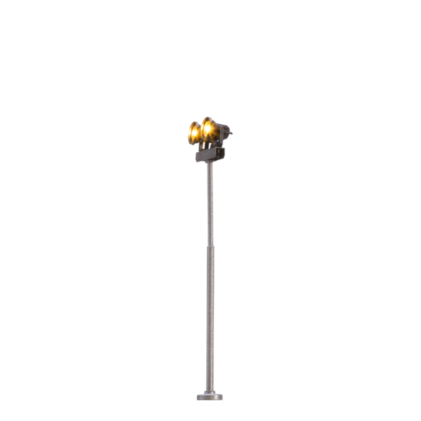 Brawa 83012 spor N Led projektørlys dobbelt på mast højde 65 mm.