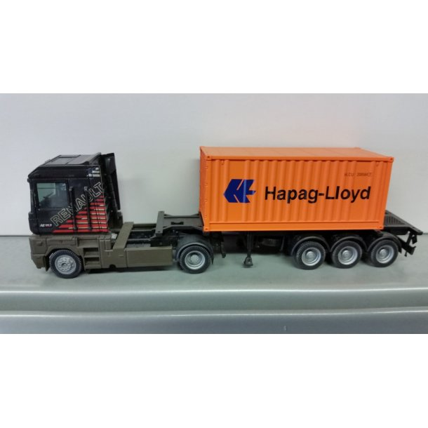 Albedo HO xxxx Renault lastbil med 20 fods hapag lloyd container